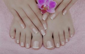 manicure pedicure french polish